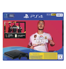Bild zu SONY Playstation 4 500GB Jet Black: EA Sports Fifa 20-Bundle für 184,47€