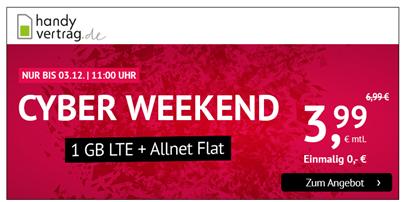 Bild zu [Top – noch bis 11 Uhr] 1GB LTE Datenflat und SMS- und Allnet Flat im o2 Netz für 3,99€ im Monat + 9,99€ Anschlussgebühr
