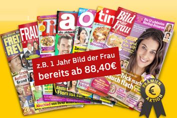 """Bild zu Deutsche Post: Frauenmagazine stark vergünstigt, wie z.B. das Jahresabo der """"Tina"""" für 93,28€ mit einer 80€ Prämie für den Werber"""