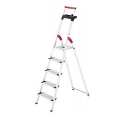 Bild zu Hailo Alu-Sicherheitsleiter | 5 Stufen | ComfortLine XXR | mit ausziehbarem Sicherheitsbügel für 57,99€