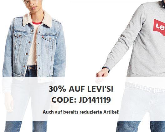 Bild zu Jeans Direct: 30% Rabatt auf Artikel von Levi's