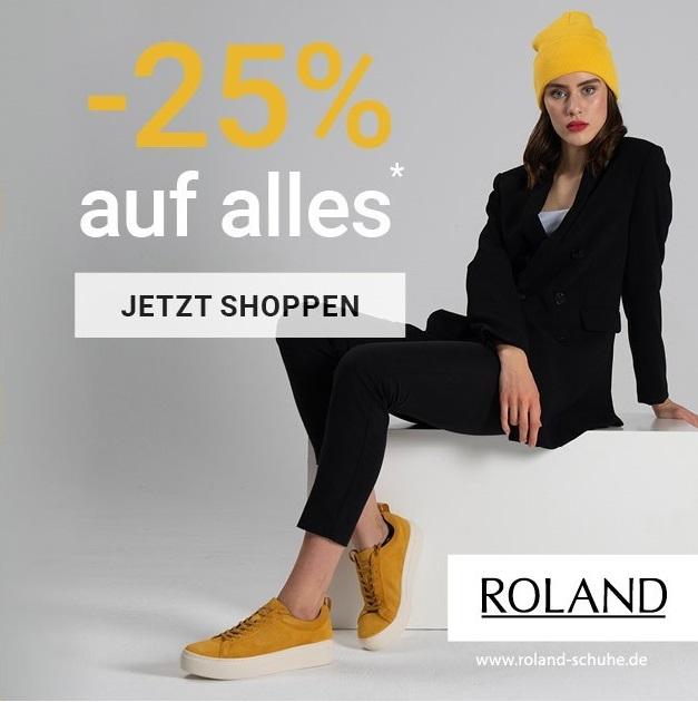 Bild zu Roland-Schuhe: 25% Rabatt auf (fast) alle Artikel im Shop (MBW: 79,95€)