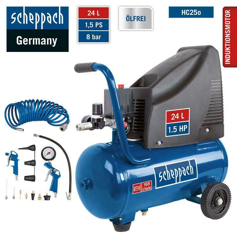 Bild zu Scheppach 8bar Druckluft Kompressor HC25o inklusive Zubehör für 88€ (Vergleich: 99€)
