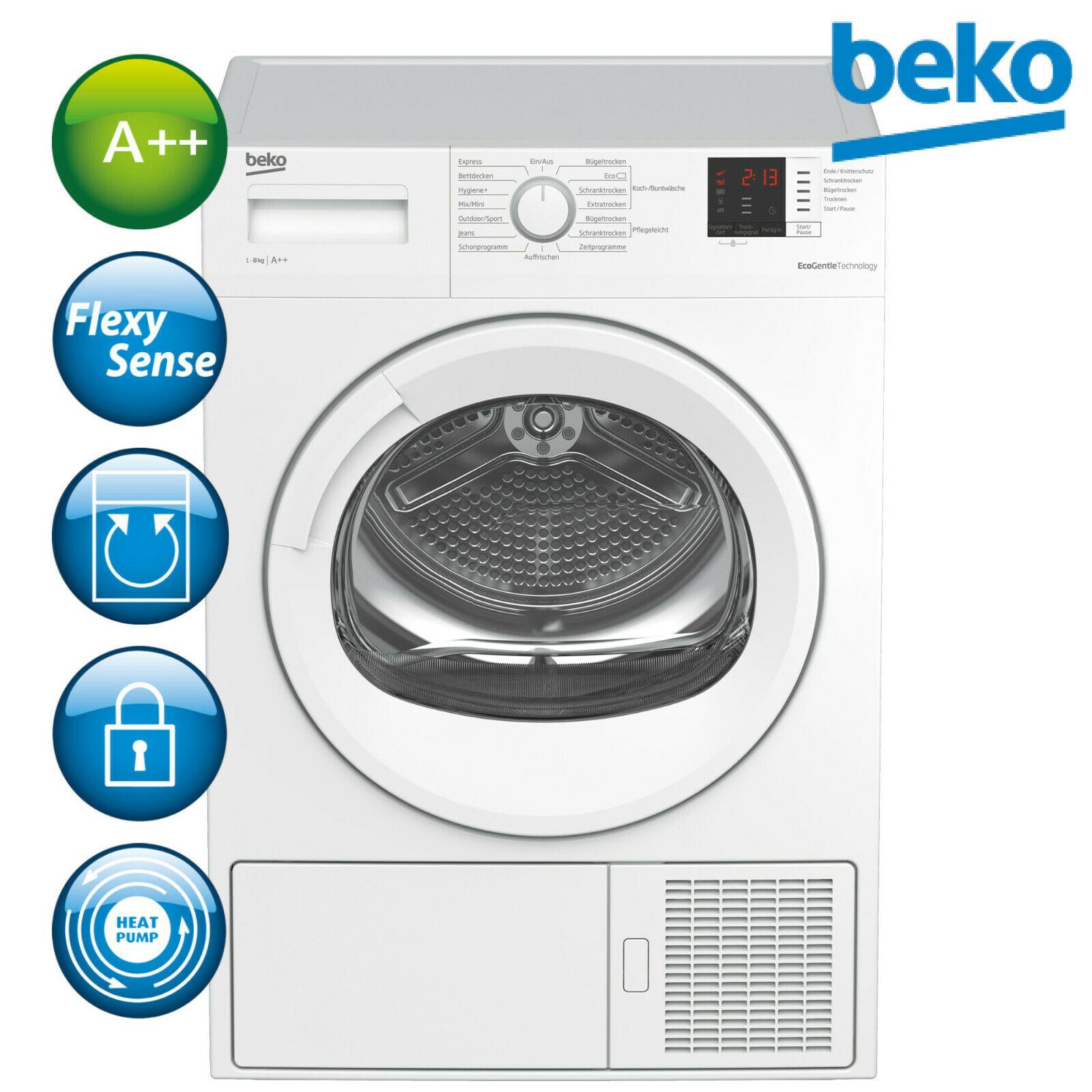 Bild zu 8kg Wärmepumpentrockner Beko DS8433GX0 (A++) für 332,91€ (Vergleich: 430,89€)