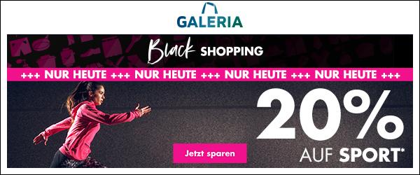 Bild zu Galeria Black Shopping: 20% Rabatt auf Sportartikel