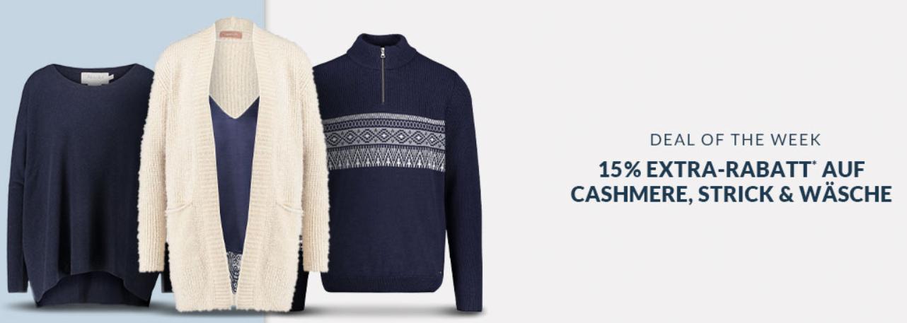Bild zu Engelhorn: 15% Extra-Rabatt auf Cashmere, Strick und Wäsche Artikel