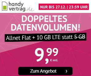 Bild zu [Top – endet Dienstag 11Uhr] 10GB LTE Datenflat, SMS und Sprachflat im o2 Netz für 9,99€ im Monat (monatlich kündbar)