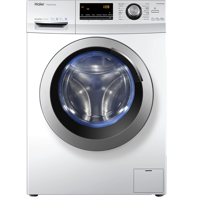 Bild zu 8 kg Waschmaschine Haier HW80-BP14636 für 299,90€ (Vergleich: 343,98€)