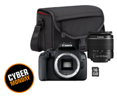 Bild zu [Top] CANON EOS 2000D Spiegelreflexkamera, 24.1 Megapixel, Full HD, HD, 18-55 mm Objektiv, WLAN inkl. Tasche + SD Karte für 222€