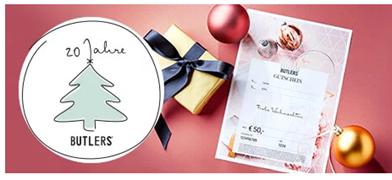 Bild zu Butlers: 50€ Gutschein kaufen + 20€ Gutschein gratis dazu