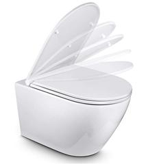 Bild zu Amzdeal WC Sitz mit Absenkautomatik in U Form Duroplast für 25,19€