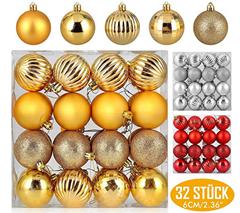 Bild zu Zogin Weihnachtskugeln/Baumkugeln in verschiedenen Größen und Stückzahlen (24 oder 32 Stück) ab 3,99€