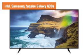 Bild zu Samsung QE65Q70R TV 163cm / 65 Zoll 4K UHD TV inkl. Galaxy A30s Smartphone + 100€ Jochen Schweizer Gutschein für 1.399€