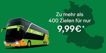 Bild zu Flixbus Ticket zu mehr als 400 Zielen für nur 9,99€