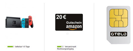 Bild zu Nintendo Switch (neue Version) inkl. 20€ Amazon.de Gutschein für 4,99€ mit Otelo Allnet Flat mit 10GB LTE Datenflat im Vodafone Netz für 19,99€/Monat