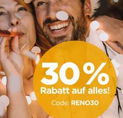 Bild zu 30% Rabatt auf das gesamte Sortiment bei Reno.de