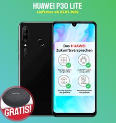 Bild zu Huawei P30 lite für 49€ (VG: 239€) inkl. gratis Google Home Mini mit BLAU Allnet-Flat L (4GB LTE Datenflat, SMS und Sprachflat) im o2 Netz für 9,99€/Monat