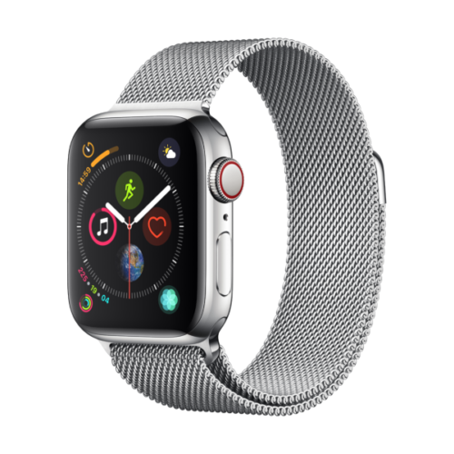 Bild zu [ausverkauft] Apple Watch Series 4 LTE 40mm Edelstahlgehäuse mit Milanaise Armband für 399,90€ (Vergleich: 774€)