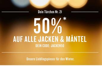 Bild zu Tom Tailor: 50% Rabatt auf alle Jacken und Mäntel