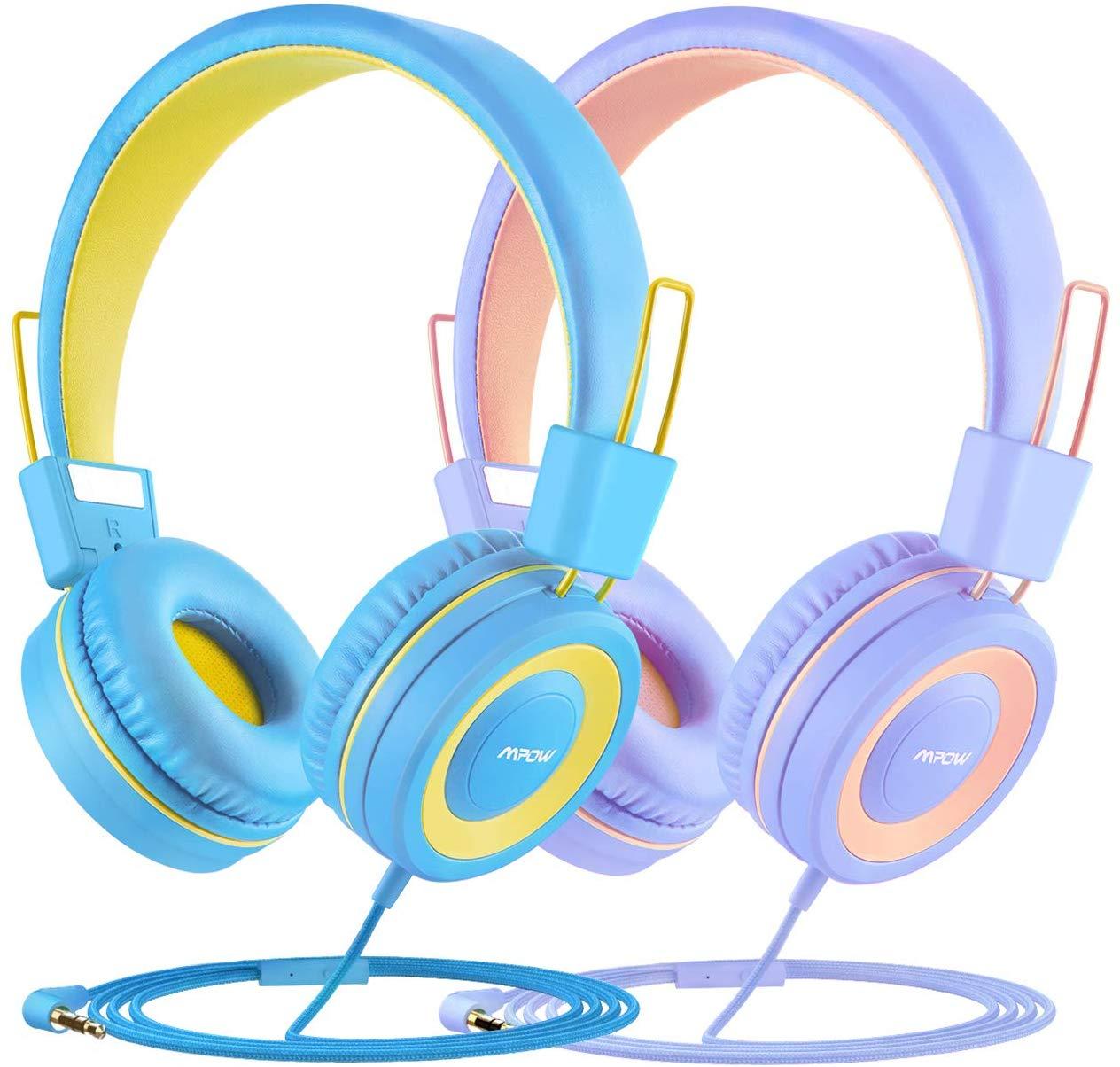 Bild zu Mpow Kinderkopfhörer (mit Lautstärkenbegrenzung) im Doppelpack für 14,99€ oder einzeln für 7,99€
