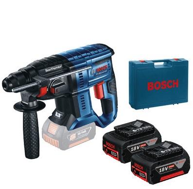 Bild zu Bosch GBH 180-LI Kombibohrhammer 2x 4,0 Ah   18 V für 238,90€ (Vergleich: 293,93€