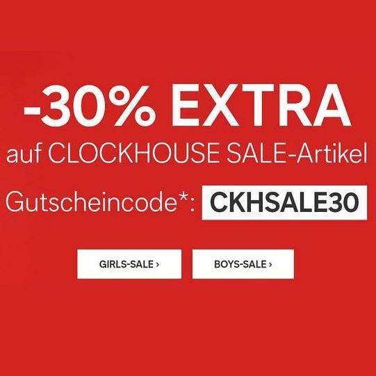 Bild zu C&A: 30% Extra-Rabatt auf alle bereits reduzierten Clockhouse Artikel