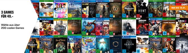 Bild zu Saturn: 3 Games (PS4, Xbox oder PC) für 49€