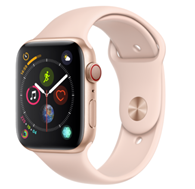Bild zu Apple Watch Series 4 GPS + Cellular 44mm gold Aluminium Sport Band sandrosa für 419,90€ (VG: 463,11€)