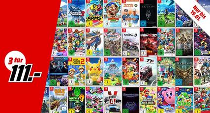 Bild zu MediaMarkt: 3 Nintendo Switch Spiele für 111€