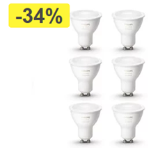 Bild zu Philips Hue White Ambiance GU10 LED Spot – Bluetooth – 3x2er Pack 79,89€ (VG: 109,60€)