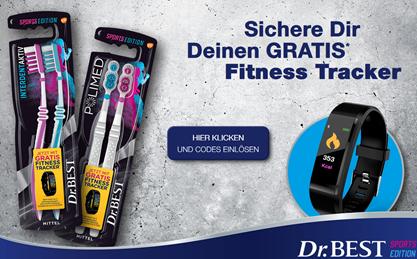 Bild zu Dr.BEST Interdent Aktiv Doppel-Pack und Dr.BEST Polimed Doppel-Pack kaufen + gratis Fitness Tracker bekommen