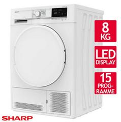 Bild zu Sharp KD-GCB8S7PW9-DE Kondenstrockner (8kg, EEK: B) für 259,90€ (Vergleich: 313,90€)