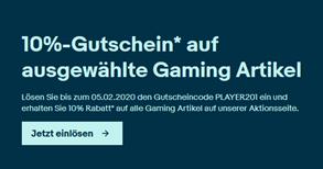 Bild zu eBay: 10% Rabatt auf Gaming-Produkte