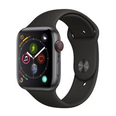 Bild zu Apple Watch Series 4 GPS + Cellular 44mm space grau Aluminium Sportarmband schwarz für 385,20€ (VG: 455,89€)