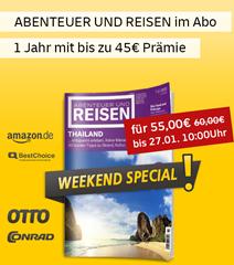 """Bild zu [bis Montag] Jahresabo (10 Ausgaben) """"abenteuer und reisen"""" für 55€ + bis zu 45€ Prämie"""