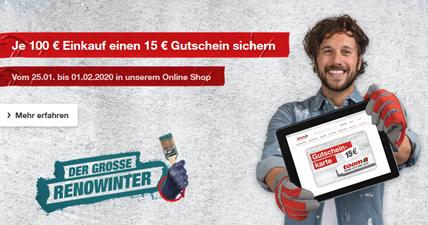 Bild zu Toom: je 100€ Einkauf einen 15€ Gutschein sichern