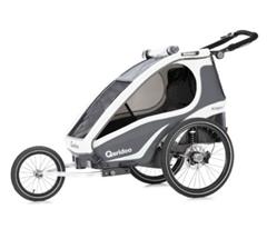 Bild zu Qeridoo® Kinderfahrradanhänger Kidgoo1 Sport Anthrazit für 359,99€ (Vergleich: 459€)