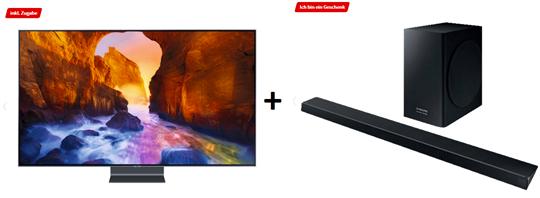 Bild zu SAMSUNG GQ65Q90RGTXZG QLED TV (Flat, 65 Zoll/163 cm, UHD 4K, SMART TV) + gratis Samsung HW-Q60 Soundbar für 2.299€ (VG: 2.903,48€)