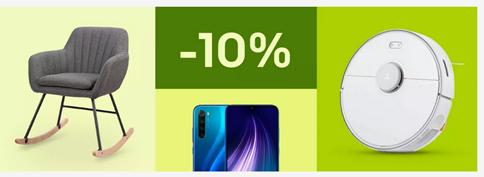 Bild zu eBay: 10% Rabatt auf ausgewählte Elektronik, Möbel sowie Mode