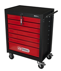 Bild zu KS Tools ECOline SCHWARZ/ROT Werkstattwagen mit 7 Schubladen für 187,06€ (Vergleich: 298€)