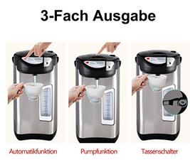 Bild zu wolketon 3,5 Liter Edelstahl Heißwasserspender für 27,99€