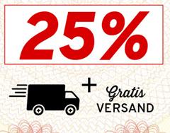 Bild zu Vorteilshop: 25% Rabatt ab 25€ Bestellwert + gratis Versand