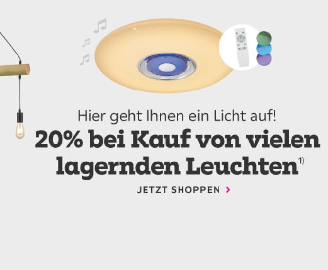 Bild zu Mömax: 20% Rabatt auf ausgewählte Leuchten