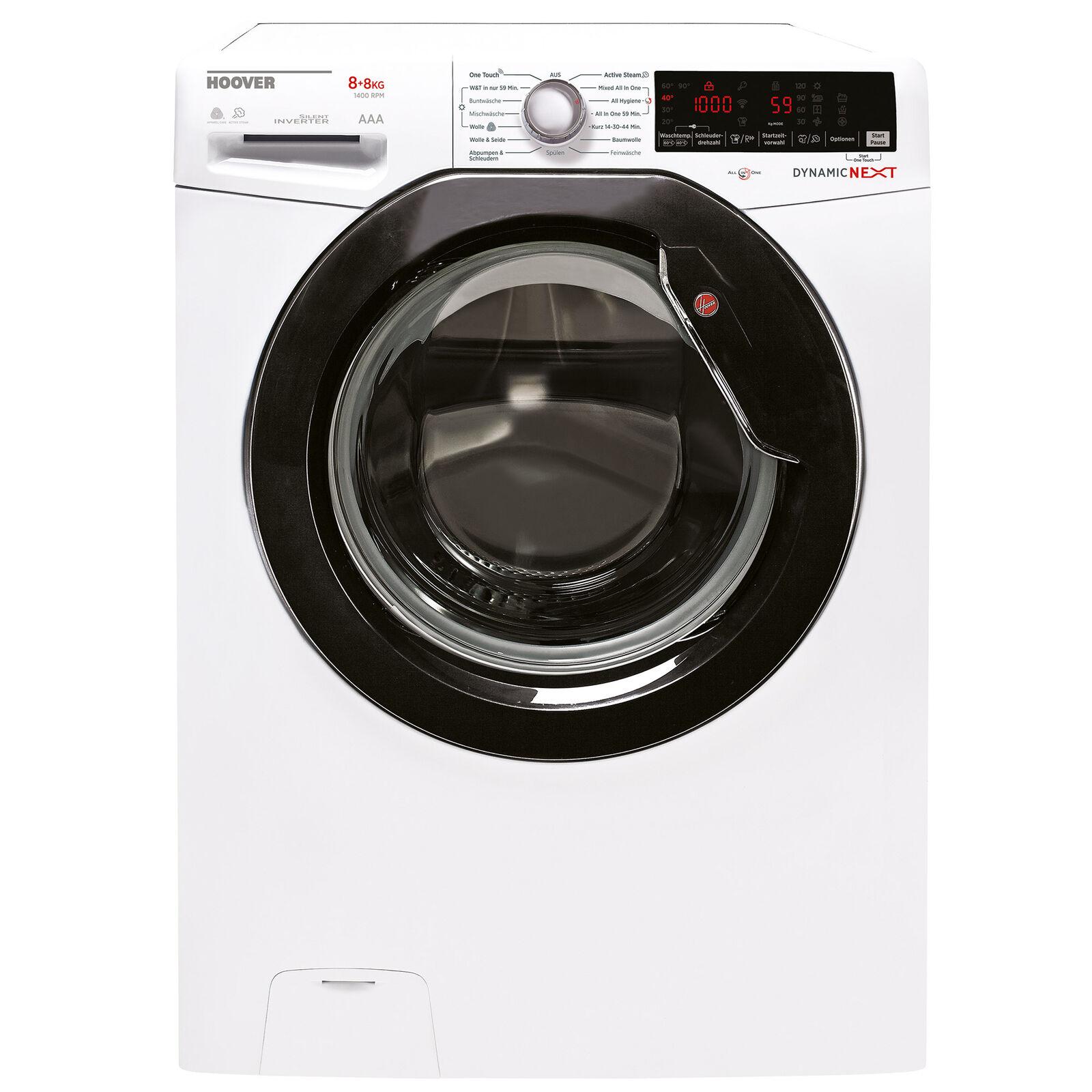 Bild zu 8 kg Waschtrockner Hoover WDXOAG488AHB-84 für 379,99€ (Vergleich: 423,90€)