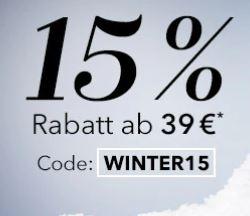 Bild zu Douglas: 15% Rabatt Gutschein auf alle nicht reduzierten Artikel ab einem Mindestbestellwert von 39€