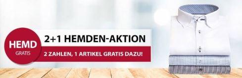 Bild zu Hemden.de: 3 Aktionsartikel kaufen + nur 2 bezahlen – z.B. Hemden, Jacken, Pullis