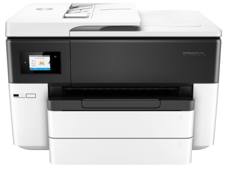 Bild zu HP OfficeJet Pro 7740 Tintenstrahl-Multifunktionsdrucker G5J38A für 157,90€ dank Gutschein + 30€ Cashback möglich (VG: 183,87€)