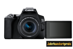 Bild zu CANON EOS 250D Spiegelreflexkamera, 24.1 Megapixel, 4K, Full HD, 18-55 mm Objektiv (IS, STM), Touchscreen Display, WLAN für 444€ (VG: 534,72€)