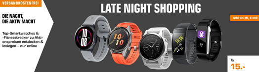 "Bild zu Saturn Late Night Shopping ""Wearables Nacht"", z.B. Samsung Gear S3 Frontier Smartwatch für 179€"