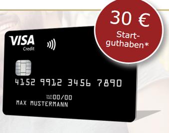 Bild zu [bis Mitternacht] kostenlose Deutschland Kreditkarte (VISA–inkl. Google + Apple Pay) mit 30€ Startguthaben